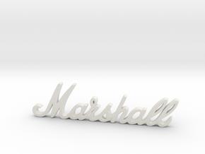 """Marshall Logo - 2.5"""" for Pinball Speaker Panel in White Premium Versatile Plastic"""