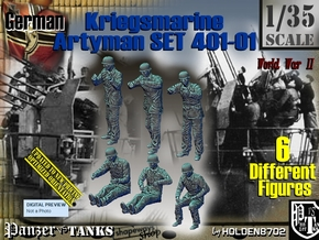 1/35 Kriegsmarine Artyman Set401-01 in Frosted Ultra Detail
