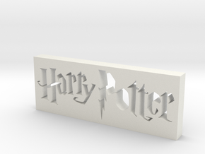Harry Potter Logo in White Natural Versatile Plastic