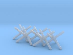 Hedgehog Barrier Ver01. O Scale (1:48) in Smooth Fine Detail Plastic
