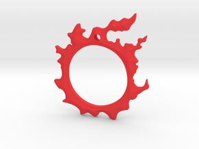 Final Fantasy XIV: Dalamud pendant in Red Processed Versatile Plastic