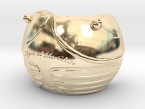 Golden Magical Ball Ring Box (Front half) in 14K Yellow Gold
