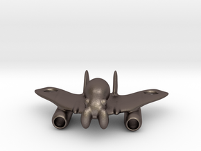 The SpaceSquid for SLINGSHOT in Polished Bronzed Silver Steel
