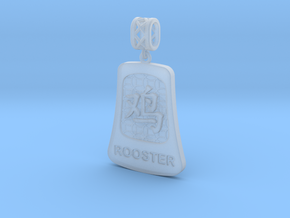 Chinese 12 animals pendant with bail - therooster in Smooth Fine Detail Plastic