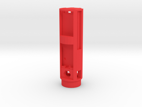 MHS Chassis for Nano Biscotte v3/v4 in Red Processed Versatile Plastic