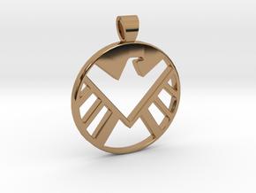Marvel's shield [pendant] in Polished Brass