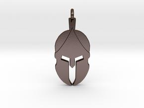 Spartan Helmet Pendant/Keychain in Polished Bronze Steel
