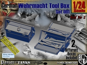 1/24 German WWII Tool Box Set001 in Smooth Fine Detail Plastic