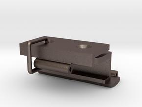 Kastscharnier voor Constructam v03-COMPLEET in Polished Bronzed Silver Steel