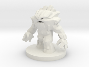 Earth Elemental - Medium Sized in White Natural Versatile Plastic