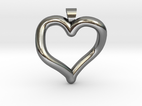 Infinite heart [pendant] in Polished Silver