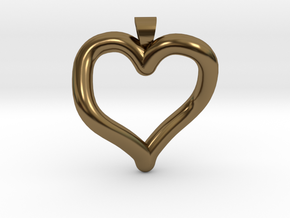 Infinite heart [pendant] in Polished Bronze