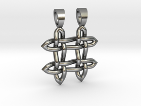 Hashtag celtic knot [pendant] in Polished Silver