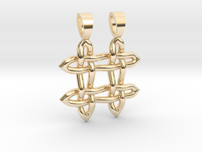 Hashtag celtic knot [pendant] in 14k Gold Plated Brass