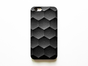 iPhone 6S Case_Hexagon in Black Natural Versatile Plastic