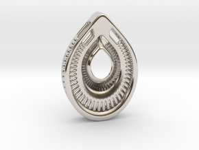 A drop. Pendant in Rhodium Plated Brass