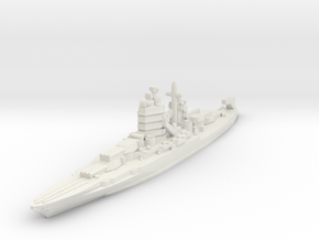 New Mexico class battleship 1/1800 in White Natural Versatile Plastic