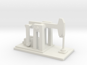Derelict Oil Pump - Variation A  in White Natural Versatile Plastic