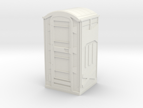Construction Site Portable Toilet Stall  in White Natural Versatile Plastic