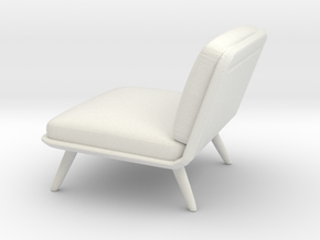 Miniature Spine Lounge 1 Seater - Fredericia in White Natural Versatile Plastic: 1:12