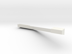 Observatory Exhaust Pipe  in White Natural Versatile Plastic