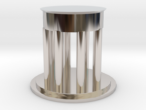 "2"" Custom Graduation Gift for SMU Dedman Law in Rhodium Plated Brass"