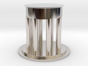 "3"" Diameter Personal Dedman Law Graduation Gift in Rhodium Plated Brass"
