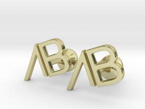 Custom Logo Cufflinks in 18k Gold Plated Brass