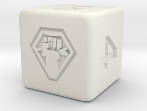 Malcontent Dice in White Natural Versatile Plastic