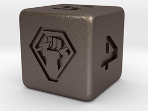 Malcontent Dice in Polished Bronzed Silver Steel