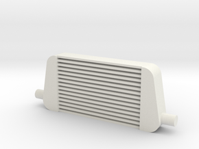 1/10 Scale (1:10) Intercooler in White Natural Versatile Plastic