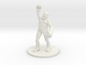 Clay Golem in White Natural Versatile Plastic