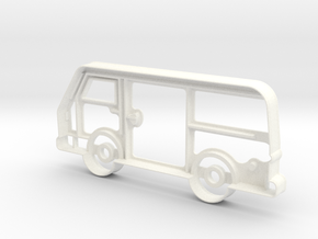 VW LT35 Cookie-cutter in White Strong & Flexible Polished