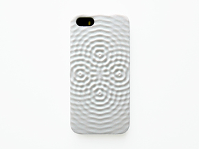 iPhone SE Case_Ripples in White Processed Versatile Plastic
