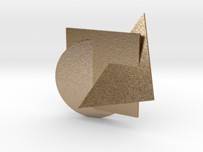 A Circle, A Square, A Triangle - Pendant in Polished Gold Steel