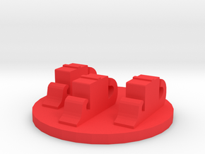 Game Piece, Galley Fleet Token in Red Processed Versatile Plastic