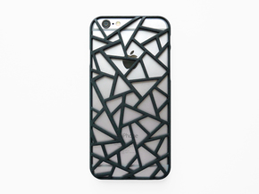 iPhone 6 / 6S case_Triangles in Black Natural Versatile Plastic