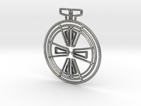 Art Deco Pendant in Natural Silver