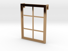 Window - Pendant in Polished Brass