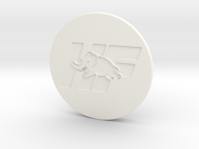OZ center cap Nabendeckel - HF Logo in White Processed Versatile Plastic