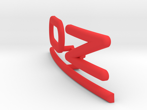 OZ Emblem for center cap curved in Red Processed Versatile Plastic