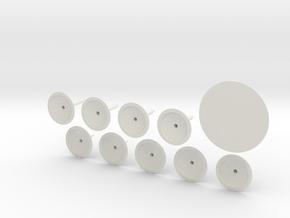 Flying Stand (jumbo pack) in White Natural Versatile Plastic