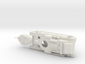 1/56th (28 mm) scale T-28 tank from WSnF in White Natural Versatile Plastic