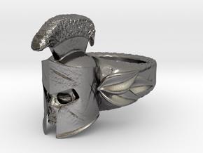 Spartan Helmet Ring in Polished Nickel Steel: 9 / 59
