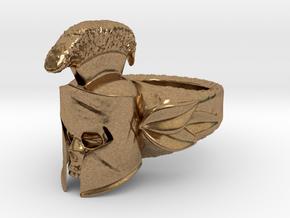 Spartan Helmet Ring in Natural Brass: 9 / 59