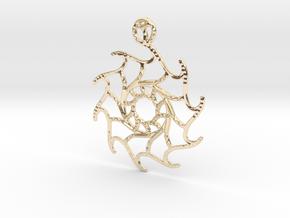 Stella Maris Pendant in 14k Gold Plated Brass