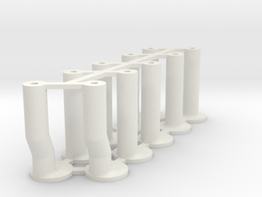Slot Car universal body mounting posts MIXED in White Natural Versatile Plastic