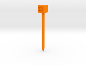 Brick Block stylus in Orange Processed Versatile Plastic