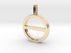 Balance Necklace  in 14k Gold Plated Brass: Small