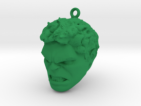 Hulk Head MagicBand fob keychain in Green Processed Versatile Plastic
